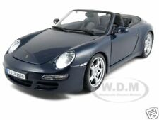 PORSCHE 911 997 CARRERA S CABRIOLET BLUE 1:18 DIECAST MODEL CAR BY MAISTO 31126