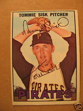 1967 Topps #84 Tommie Sisk Pirates SIGNED JSA