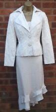 Nuela 3 Piece Beige Skirt Suit With Asymmetrical Hem Size 10