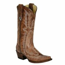 Corral Women's Picasso Cognac Cowgirl Boot Snip Toe Cognac G1923
