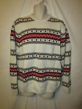 mens chaps by ralph lauren crew ski sweater XL nwt $80 oatmeal beige stripe