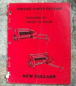 New Holland Service Parts Catalog Hayliner 68 Twine Tie Baler--->>>