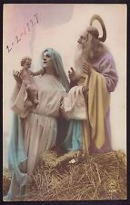 Nativity Creche, Manger Old 1927 Holy Postcard