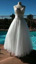 Mori Lee 5747 White/Gold/Multi Sz 6 -- Evening Dress-Military Ball--prom-Wedding