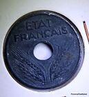 MONNAIE FRANCE 10 centimes ETAT FRANCAIS 1943 grand module ZINC AC400