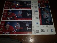 Montreal Canadiens Ticket Stub Lot.  Tickets framed.