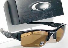 NEW* Oakley FLAK JACKET BLACK POLARIZED BRONZE XLJ Golf Sunglass 9009-26