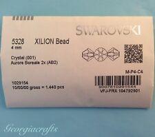 4mm Crystal AB 2x - Swarovski Bicone Crystal Beads Factory Pack