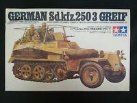"TAMIYA 1/35 MM 213A GERMAN WWII SD KFZ 250/3 ""GREIF"" MODEL KIT - GREIF ONLY!"