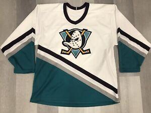 CCM Anaheim Mighty Ducks Ultrafil NHL Hockey Jersey Size Large