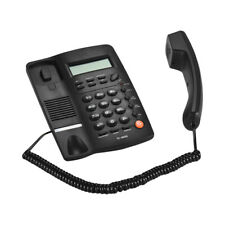 Desktop Corded Telephone Fixed Phone LCD Display Speakerphone House Office Z4I0