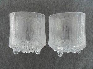Tapio Wirkkala Ultima Thule Iittala 2 x footed drinking glasses