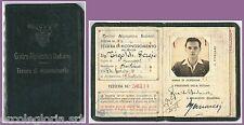 60986 -   DOCUMENTO D'EPOCA: TESSERA  RICONOSCIMENTO Alpini! 1945