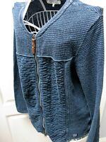 New Piece of Blue Danish Designer Cardigan Size L Indigo Blue SOLD OUT RRP £170