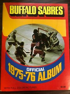 NHL HOCKEY BUFFALO SABRES OFFICIAL 1975-76 ALBUM EXCELLENT CONDITION