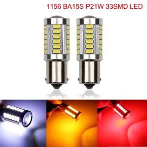 1156 BA15S P21W 33SMD LED Car Backup Reverse Rear Light Bulbs Amber White Red