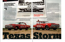 1964 PLYMOUTH MAX WEDGE HEMI A864 / HAYDEN PROFFITT ~ GREAT 6-PAGE ARTICLE / AD