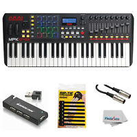 Akai Professional MPK249 49-Key Controller + USB Hub + MIDI Cable & Cable Ties