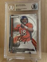 Peyton Manning 2014 Topps Autographed Signed Beckett BAS Slabbed Card COA