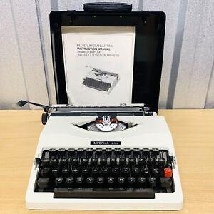 Vintage 70's Imperial 205 Typewriter & Hard Case Made in Japan *VGC* FREE POST