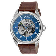 Invicta Men's Manual Wind Mechanical Watch Exhibition Dial Leather Strap 30723
