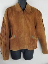 Ren Eellis by Chambers Vintage Brown Leather Southwestern Jacket tag Sz 44