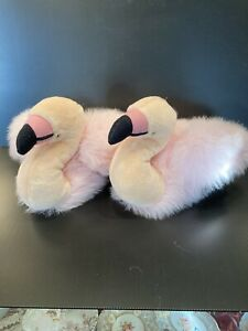 FLUFFY PINK FLAMINGO SLIPPERS FABULOUS - THE PAIR!