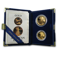 1987 2-Coin Proof Gold American Eagle Set (w/Box & COA) - SKU #7498