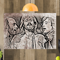 The Bee Gees Framed Canvas Wall Art Picture Print Ready To Hang