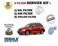 FOR CHRYSLER PT CRUISER 2.0 2000-2004 NEW SERVICE KIT OIL AIR POLLEN FILTER