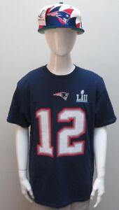 Tom Brady #12 New England Patriots Super Bowl LII Youth Size Football Shirt NWT