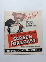 "MGM Movie Booklet 1940 Upcoming Films Los Angeles 12 Pages 4 1/4"" X 4 3/4"""