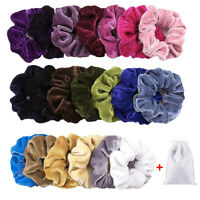 1-20 Pack Hair Scrunchies Velvet Scrunchy Bobbles Elastic Hair Bands Holder Lot