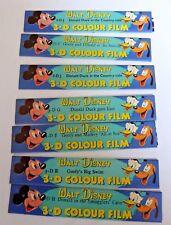 7 x Vintage WALT DISNEY FIVE STAR 3D Colour Film - MINICINE Film Strips