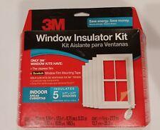 3M (5) 3'x5' Window Insulator INDOOR Kit Clear Film & Scotch TAPE 2141W6