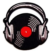 Vinyl Record DJ Embroidered Iron Sew On Patch Applique Badge Motif punk Rock LP