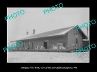 OLD LARGE HISTORIC PHOTO OF ALLEGANY NEW YORK, THE ERIE RAILROAD DEPOT c1910 2