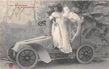 BELLE CPA VOITURE ANCIENNE UNE PROMENADE EN AUTOMOBILE (ENFANT NOIR N°6