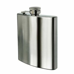 New Stainless Steel Hip Flask Drink Whiskey Vodka Case Holder Pocket Gift 6oz