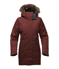 The North Face Parka para Mujer de extremo Norte Impermeable Chaqueta de Plumón Sequoia Rojo M
