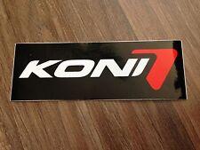 Verkaufe Koni Aufkleber ca. 10cm X 3,5cm Koni Stoßdämpfer Schwarz Weiß Rot