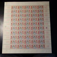 FEUILLE SHEET TIMBRE CYCLISME TOUR DE FRANCE N°955 x50 1953 NEUF ** LUXE MNH