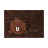 Korea LINE Friends Brown Cony Sally Bathroom Bedroom Foot Mat Mascot Gift
