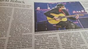 DAVID ROBACK.  MAZZY STAR. ETHEREAL MUSIC.  UK Times Obituary. 26.5.2020