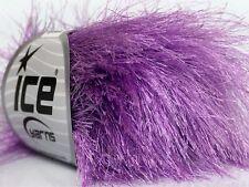 38Yd Lilac Extra Long Eyelash Yarn Ice Luxurious New Lilac Fun Fur 42074 50 Gram