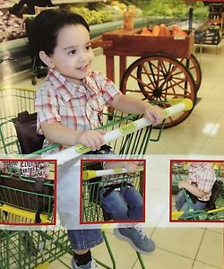 Baby Shopping Cart Seat Cover, Clean and padded seat, Brown, Standard Size.