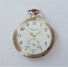 Reloj De Bolsillo 1900 oro y plata Entubado ZENITH 16 Con Joyas Palanca Suizo Funcionando