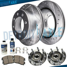 2014 2015 2016 For GMC Sierra 2500 HD Coated Rear Disc Brake Rotors and Pads