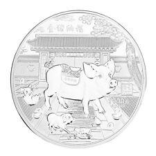 Lunar Silbermünze Sondermünze Münze 2019 Jahr des Schweins Stempelglanz 1KG