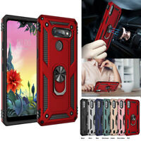 Hybrid Shockproof Magnetic Armor Ring Holder Stand Hard Case Cover For LG K50S